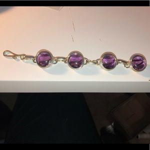 Glass marble bracelet